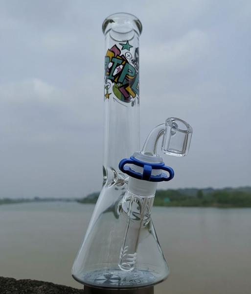 Reciclador grande de tubos de agua para tubos de agua de vasos de vidrio de bong de 10