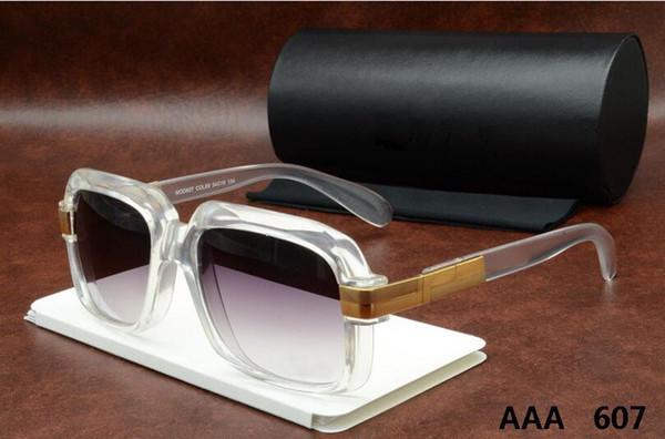 2019 High fashion men's fashion 607 sunglasses original box female models retro style UV380 Sun Glasses Unisex AA006