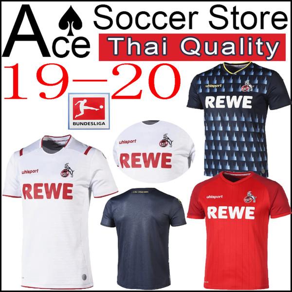 nouveau maillot de football de koln 19 20 à domicile troisième blanc rouge bleu 24 DREXLER 14 HECTOR 2019 2020 maillot de football sweat taille S-XXL