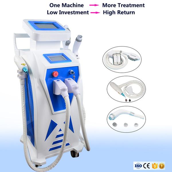 Máquina multifuncional do rejuvenescimento da pele do tratamento do pigmento da pele da cara do IPL OPTAM a máquina da remoção do cabelo da remoção da tatuagem do laser do nd yag do RF de Eldle