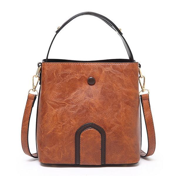 New Bucket bag lady new fashionable handbag in 2019 Korean version Baidan one shoulder inclined bag