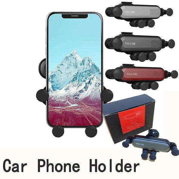 Soporte del teléfono del coche de la gravedad en los soportes del montaje del respiradero del aire del coche para el iphone X Xs Max Samsung S9 Xiaomi Huawei soporte del teléfono móvil