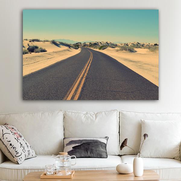 Acquista 1 Pannello Road Sky Pictures Landscape Street Canvas Pittura  Immagini Pareti Soggiorno Camera Da Letto Poster E Stampe Senza Cornice A  $27.73 ...