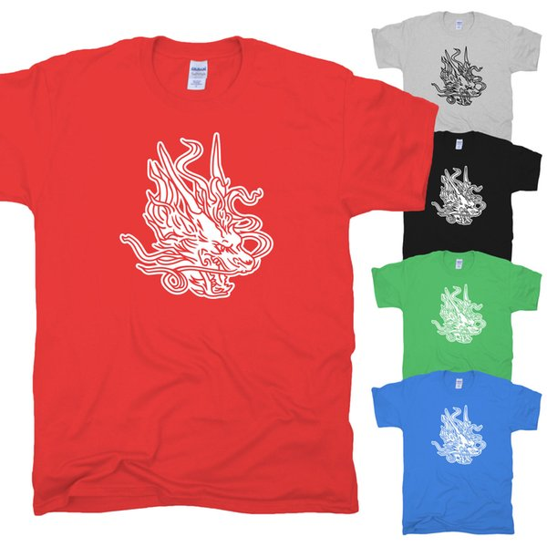 Drache Dragon Tribal Tattoo Symbol Drachen Kung Fu Fantasy Long T-Shirt S-XXL Funny free shipping Unisex Casual Tshirt top