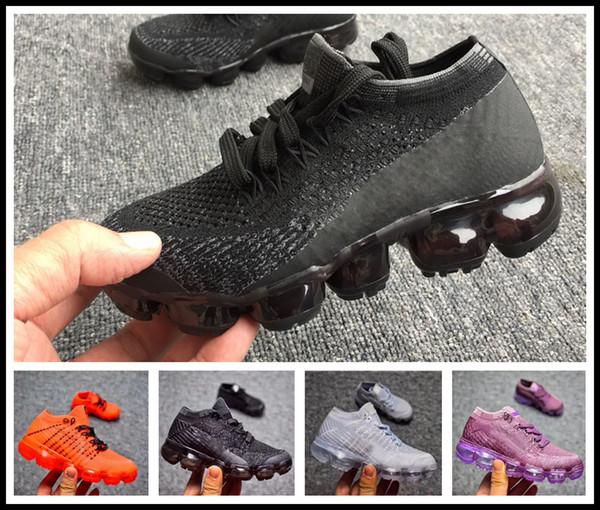 Compre Nike Air Max Airmax Vapormax 2018 Niños Zapatillas De Running Zapatillas De Deporte Infantiles Infantiles Del Arco Iris Zapatillas Deportivas