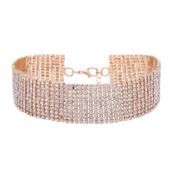 Gold kurze Halsband