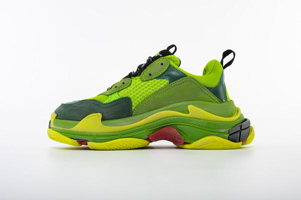 2019 100% TOP Triple S Hommes et Femmes Rétro Bottes causal Chaussures Hommes Chaussures Top Qualité de Bottes De Mode Baskets De Sport Femme Bottes De Sport A1