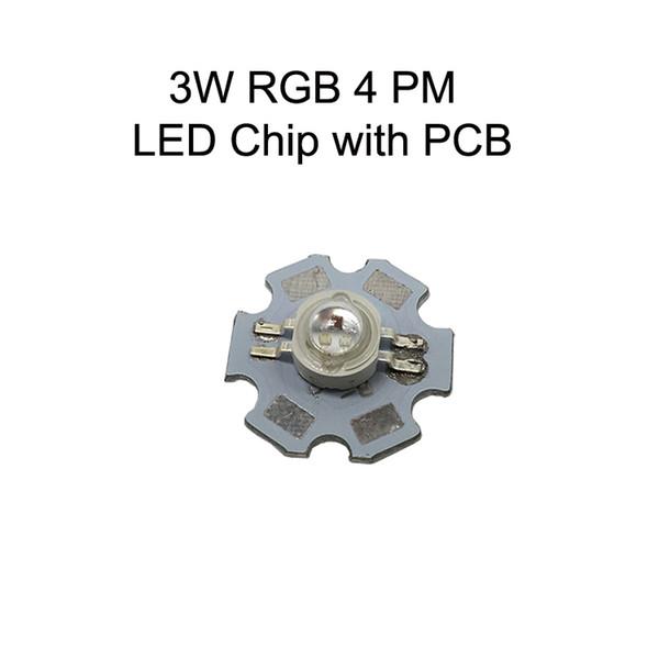 3W RGB 16:00 LED Chip Com PCB
