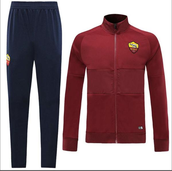 18 19 Roman jacket sportswear SurfetementChaquetadefútebol2012019 Rome TOTTI ROSSI DZIKO football jacket sportswear training suits