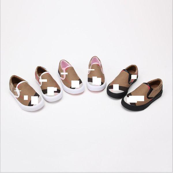 21-36 حذاء قماش مسطح شريطية منقوشة نمط أطفال أحذية عادية