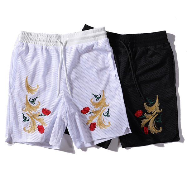KITH Bordado Malha Shorts Homens Mulheres Marca Sweatpants Causul Corredores de Verão Calças de Ginástica Hip Hop Harajuku Streetwear Basquete Calças de Pista