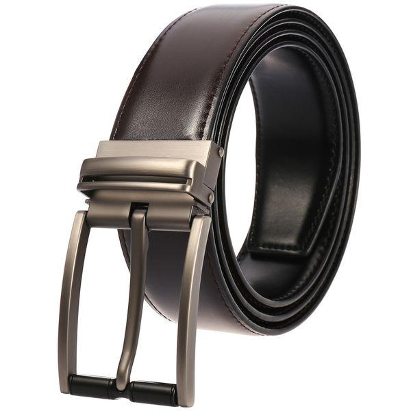 2019 Retro Pin Fivela Homens Cinto de Couro Genuíno Vaca Cintos de Grife para Homens de Boa Qualidade Moda Masculino Strap Belt para Calças Jeans
