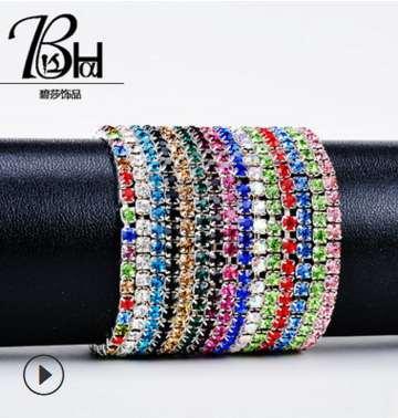 feminino Zirconia Tennis Bracelet CZ Stone Jóias cadeia de ténis pavimentado para senhora alta qualidade Bangle New Fashion