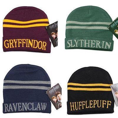 8 estilo Harry Potter Beanie Hat Gryffindor Slytherin Hufflepuff Ravenclaw Gorra Sombrero de punto cálido Cosplay Escuela Rayas con gorra a rayas MMA1168 200pcs