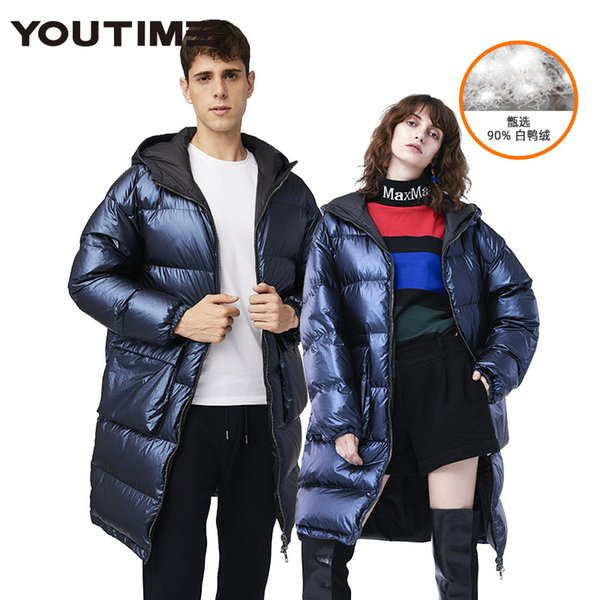 Explosions selling new winter coats for men and women couples long European and American style thick loose fashion coat tide cold