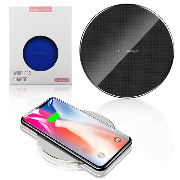 Qi wirele charger for iphone x max 10w fa t charging quick charger pad iphone xr x 8 plu am ung galaxy 10 10 10e