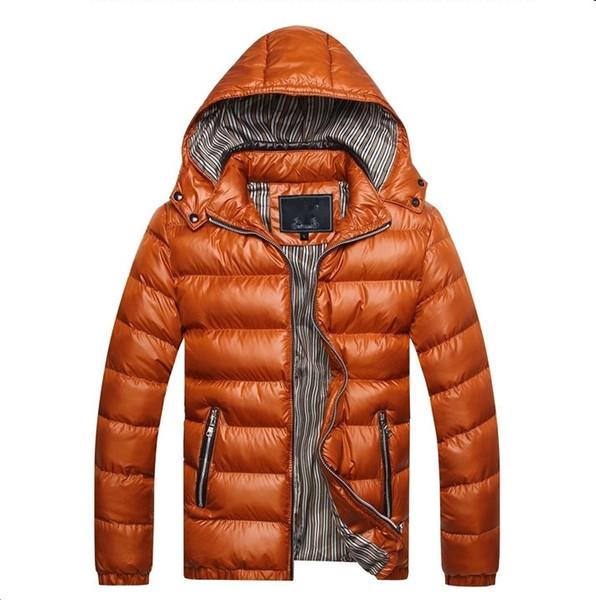 Giacca invernale da uomo 2018 Giacca calda con cappuccio addensato per uomo 5 colori Slim Parka Cappotto casual da pioggia Plus Size M - 5XL