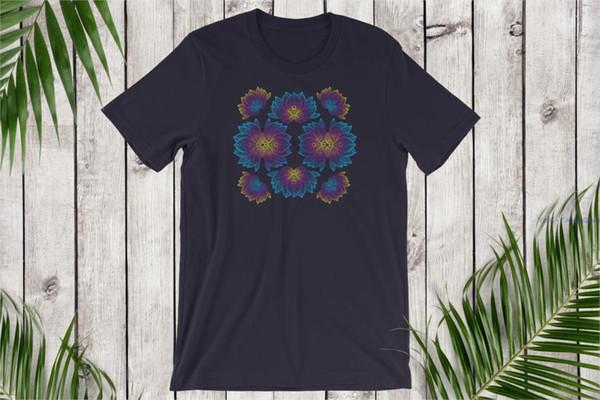 Men's Psychedelic ArTShirt Trippy Lotus Shirt Lotus Flower Meditation Tshirt Zen Festival Shirt EDM Shirt Hippie Tee