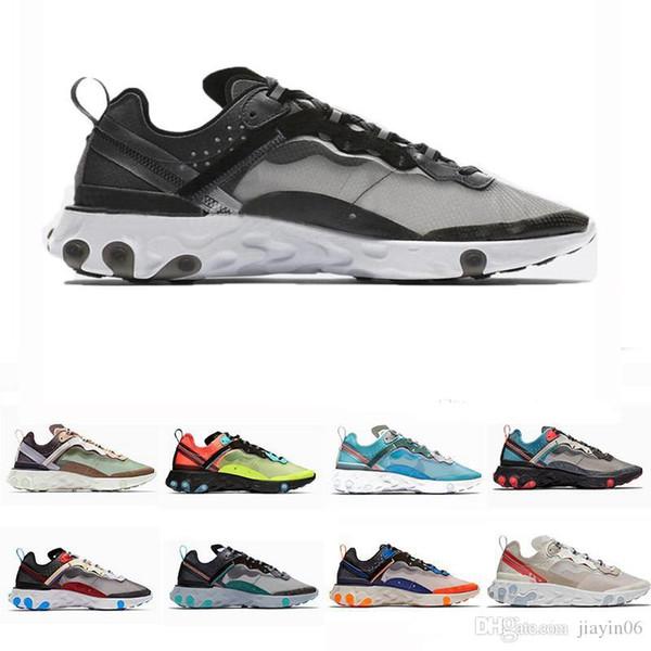 nike air max 87 2019 Reagir Elemento tênis para mulheres dos homens branco preto Royal Tint Desert Sand designer de esportes respirável sapatilha tamanho 36-45