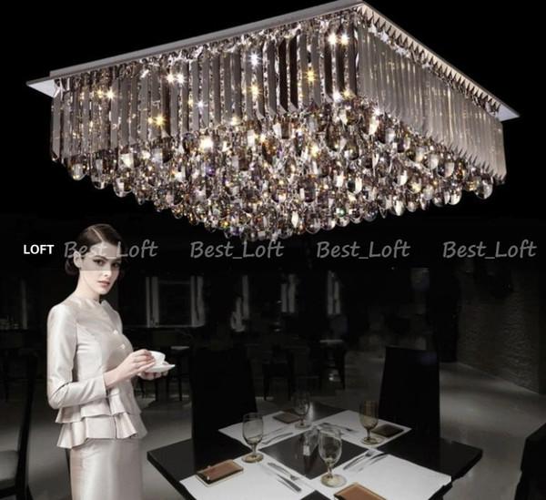 Nuevo diseño ! Moderno Brillante Generoso LED Segmentado Regulable Lámparas de techo Lámparas de techo Cristal de interior Lámparas de techo Iluminación