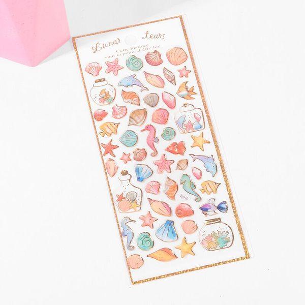 Муйи Corner Bio-мультфильм наклейки оптом Детский сад Детский Reward Альбом Дневник мобильного телефона кристаллический стикер, мороженное стикер
