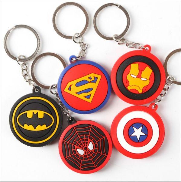 Keychain Super Heroes Ironman Spiderman Superman Batman Action Figure Movie Toys Avengers Christmas Toys for Children Figures