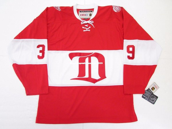 Cheap custom DOMINIK HASEK DETROIT RED WINGS ALUMNI VINTAGE CCM HOCKEY JERSEY Personalized customization Men's Retro ice Hockey jersey