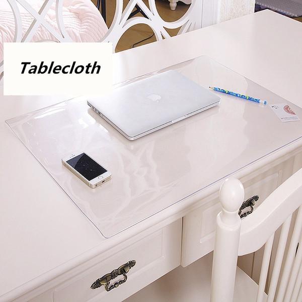 Student table mats Transparent tablecloth Crystal table mat Desk protection pad PVC transparent soft glass table cloth D19010902