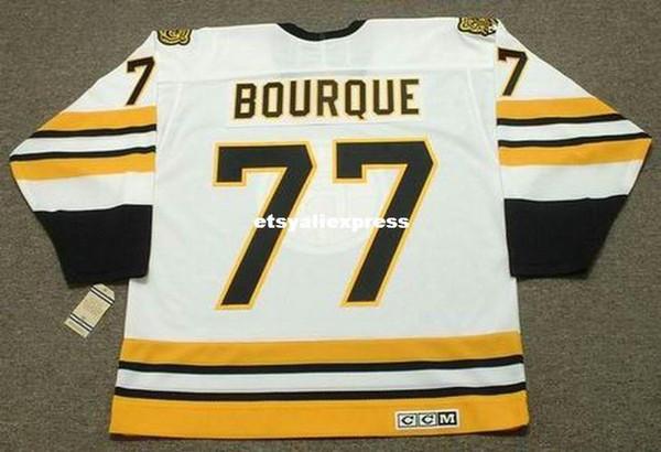 personalizzato Mens RAYMOND Bourque Bruins di Boston 1990 CCM maglie Vintage Home Voli economici Retro Hockey Jersey
