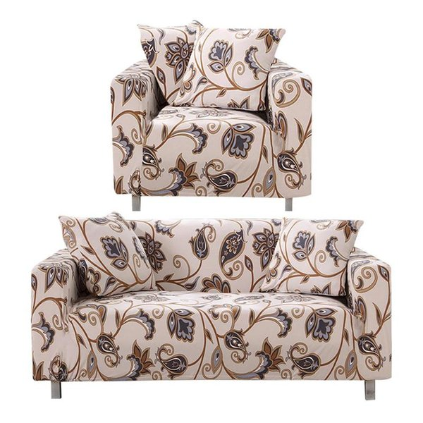 Stretch Sofa Cover Elastic Slipcovers Polyester Couch Covers+2 Pillowcases