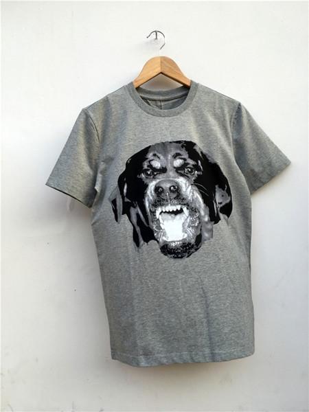 High New Novelty Hot Punk Men Fashion T Shirts Rottweiler Print T-shirt Hip Hop Skateboard Street Cotton T-shirts Tee Dog #147