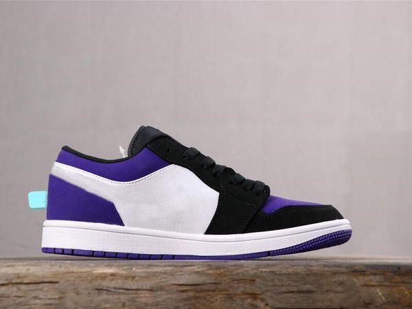 Gute Qualität 1 niedrig weiß schwarz Gericht lila Mann Designer Basketball Schuhe Komfort ich Wildleder Frau Mode Trainer kommen mit Box