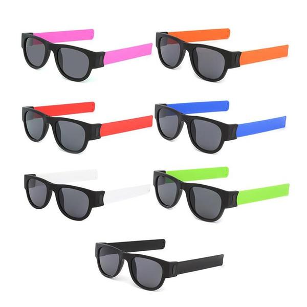 Homens polarizada pulso óculos de sol Folding por Mulheres rolo Bracelet tendência dobrável Sun