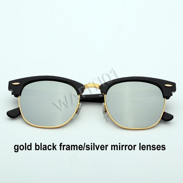 الذهب الأسود والفضة مرآة