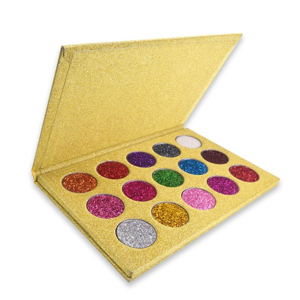 DHL Free 15Color Eyeshadow Palette Diamond Shadow Plates Golden Gloss Powder Sexy Girl Eye Shadow Best Long Lasting Shimmer Metallic Pallete