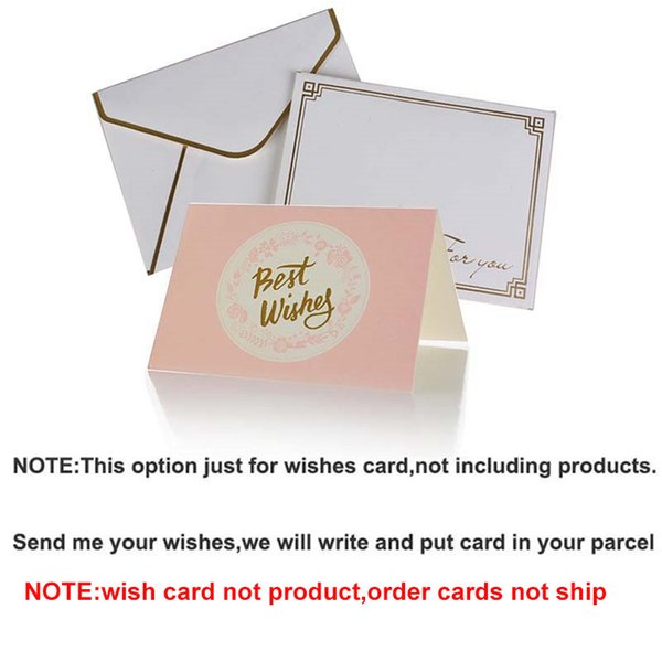 wishes card(just order card cannot ship)