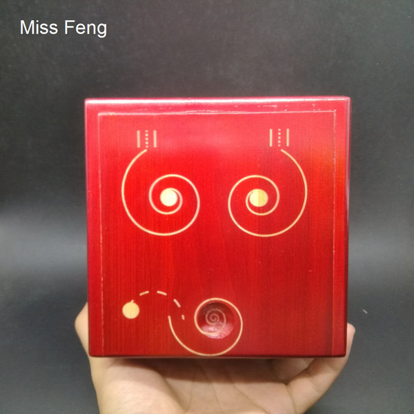 SH074 / Difficult Puzzle Box Game Toy Wooden 3D Maze Brain Teaser Coin Money Box Gift
