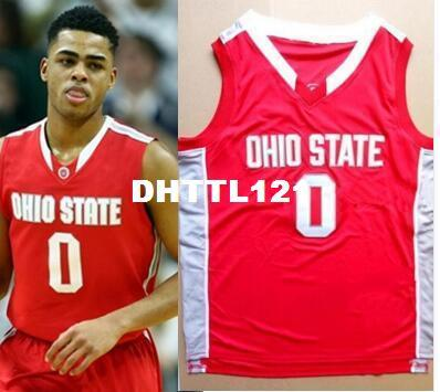 D'Angelo Russell #0 Jared Sullinger Ohio State Buckeyes Retro Basketball Jerseys customize Any number Men Stitched Jersey