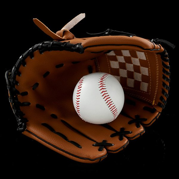 """Thickening Pitcher Batting Gloves PVC Artificial Leather Baseball Gloves Lightweight Softball Gloves Adult 10.5"""" 12.5"""" Left Hand Pale Brown"""