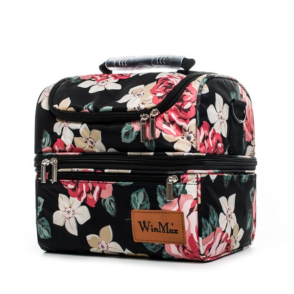 Winmax 2018 New Colorful Insulated Picnic Bag Portable keep Food Safe Warm Big Thermal Cooler Box School Picnic Hiking Bags Hot