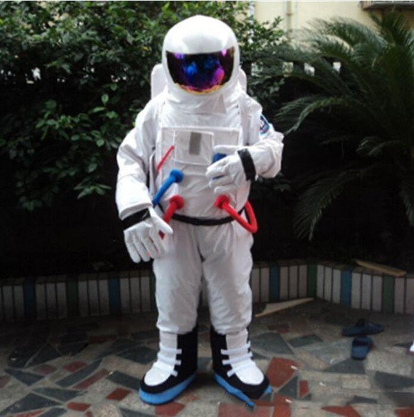 High quality hot Space suit mascot costume Astronaut mascot costume with Backpack glove,shoesFree Shipping