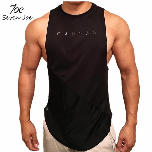 Seven Joe Gyms Stringer Clothing Bodybuilding Tank Top Men Fitness Singlet Sleeveless Shirt Solid Cotton Muscle Vest Unders Q190521