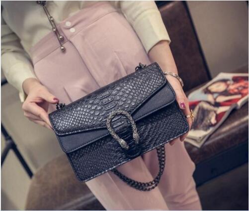 Couro de cobra retro bolsa de luxo bolsa de ombro de couro designer original de alta qualidade com cinto
