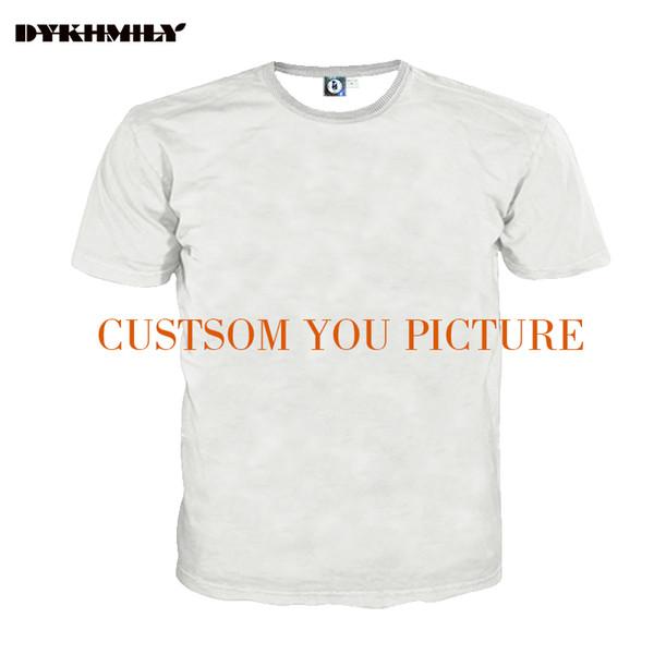 Dykhmily Custom 3d Full Print T -Shirt Men O -Neck Best Ployester Quality Plus Size 3d Print Customsize Tee Designer T Shirt