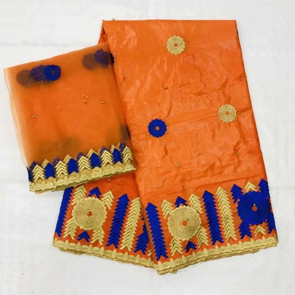 burnt orange lace bazin riche dresses for girls african fabric basin riche getzner african bazin lace material 7yard