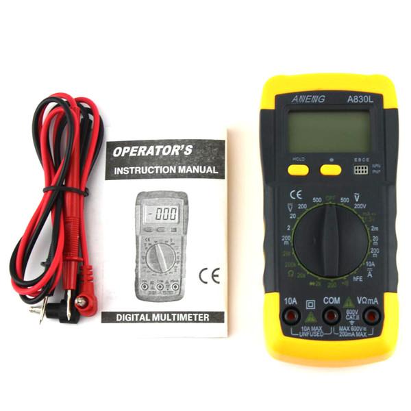 Digital Multimeter DC AC Ammeter Voltmeter Tester Meter LCD Electric Handheld Digital Multimetro Ammeter Multitester A830L