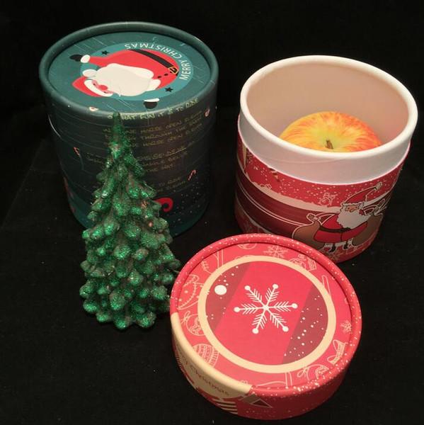 TECHOME New Design Christmas Apple Gift Box 4PCS/Set Santa Claus Christmas Tree Pattern Wonderful Package Box Paper Gift Holder