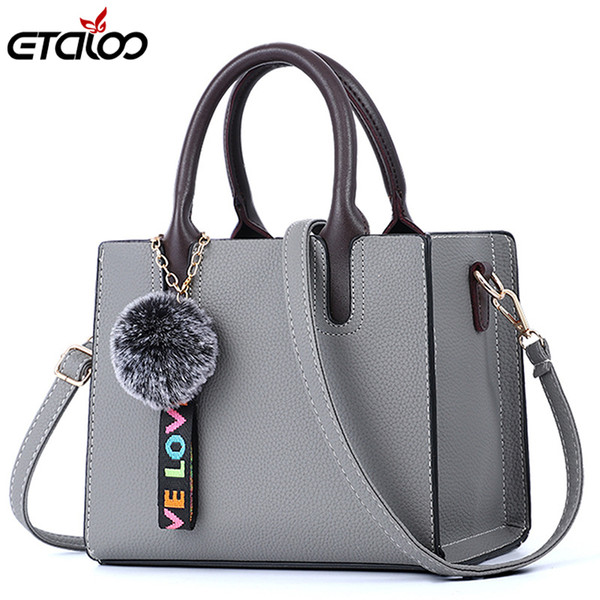 Female Bags Casual Tote 2019 Trendy Fashion Pu Leather Handbag Messenger Bag Shoulder Bag High Quality Y19061705
