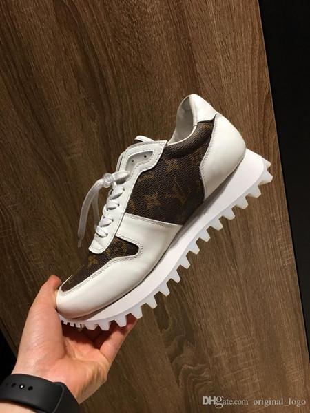novos de luxo de qualidade superior Homens Mulheres Sapatos casuais Genuine 453
