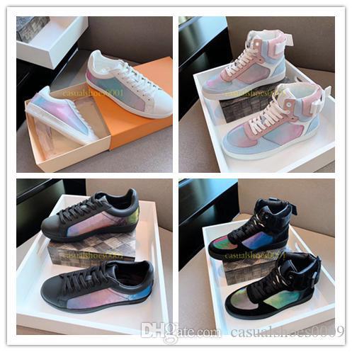 2019 Luxembourg Luxury Designer Hommes Femmes Sneaker Chaussures sport à bas prix élevé Paris MONOGRAM chaussures plate-forme de marche de chaussure colorée Taille 38-44